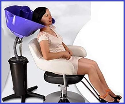 Lavatesta per parrucchieri con sedie