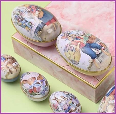 Uova di pasqua contenitore