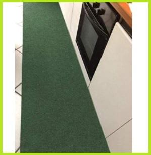 Passatoia cucina verde