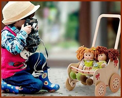 Passeggino Per Bambole Legno