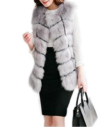 Cappotto pellicce ecologiche pelo lungo