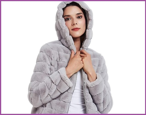 Pelliccia vera donna invernali eleganti