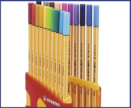 Penne stabilo colorate