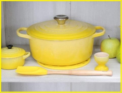 Pentola smaltata gialla