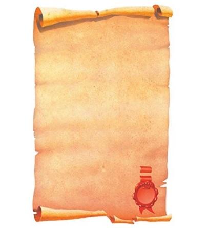Fogli pergamena con sigillo per stampanti