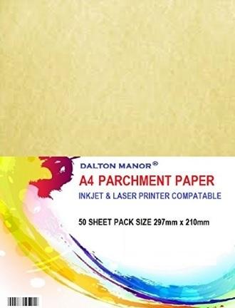 Carta da stampare stile pergamena alta qualità