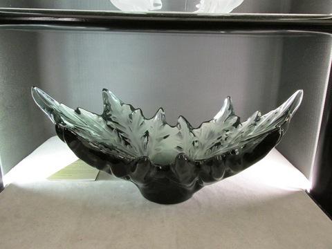 Vaso colore verde grigio in cristallo