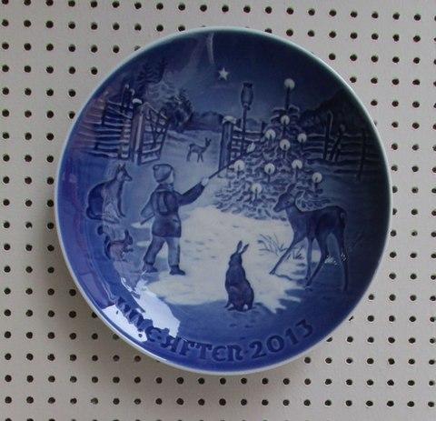 Piatto Tema Invernale Ceramica
