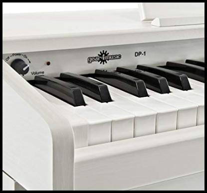 Pianoforte digitale bianco