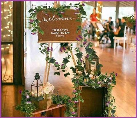 Piante artificiali da esterno pendenti con fiori