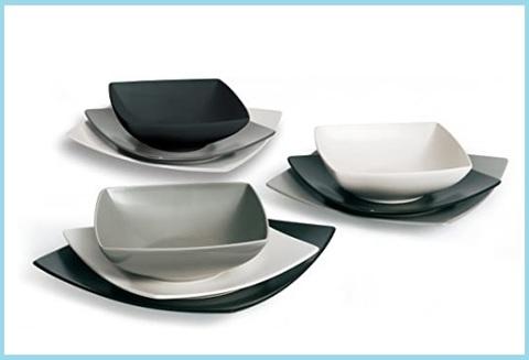 Servizio piatti moderni quadrati design