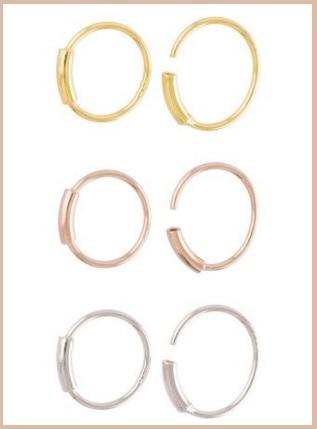 Piercing naso anelli in argento 925 pieghevole