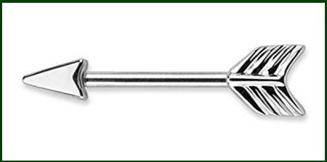Piercing capezzolo a forma di freccia