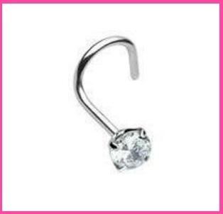 Piercing nasale con brillantino in acciaio