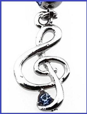 Piercing elegante a forma di chiave di violino
