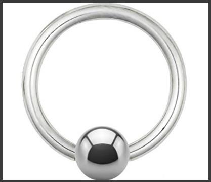 Piercing con pallina helix