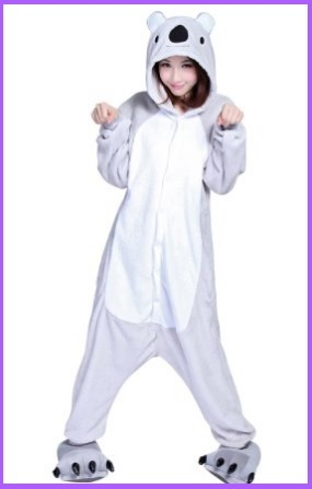 Pigiama koala intero in velluto