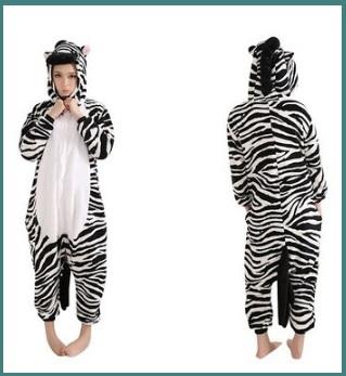 Pigiama intero a forma di zebra