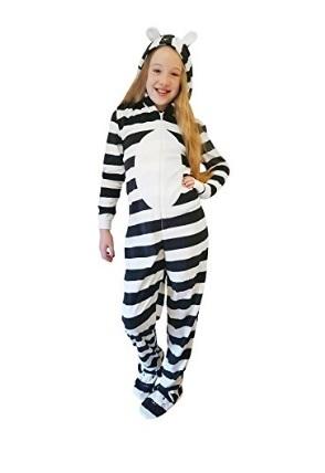 Pigiama intero zebra per bambine
