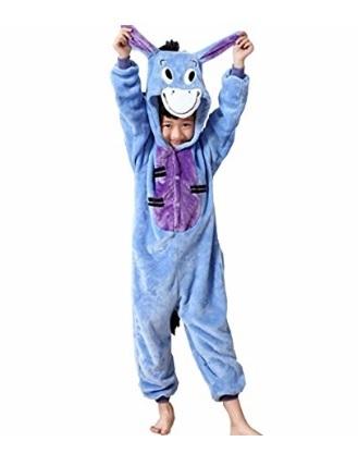Pigiama per bambini da asino con cappuccio