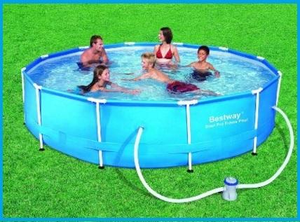 Piscina fuori terra da giardino con pompa filtro grandi sconti piscine fuori terra offerte - Piscina fuori terra in giardino ...