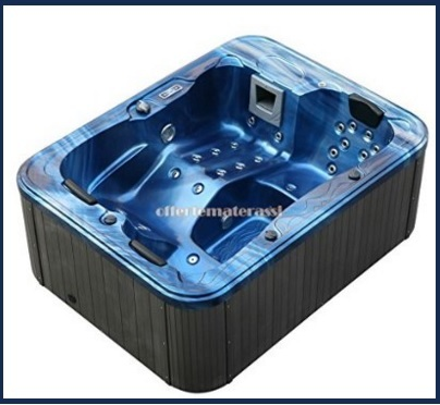 Vasca idromassaggio esterna per sdraiarsi