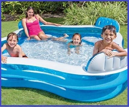 Gonfiabili piscina bambini 4 sedili