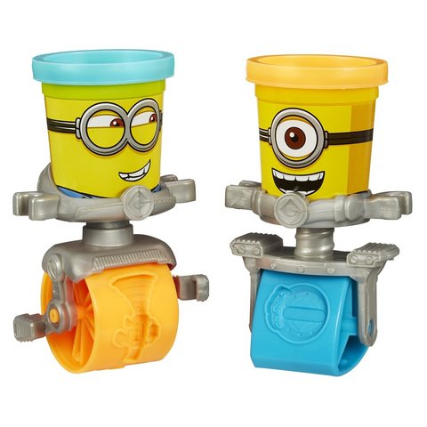 Play-doh minions stamp e roll stampettini