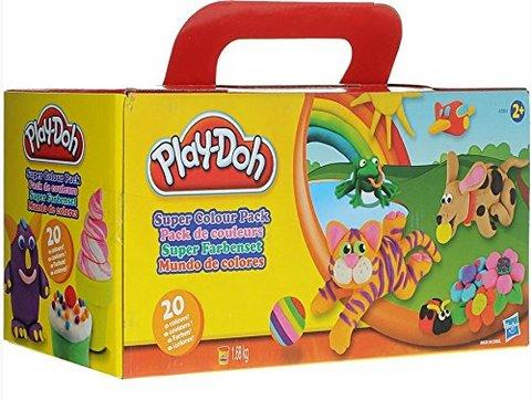 Play-doh super set di pasta colorata da modellare 20 pezzi