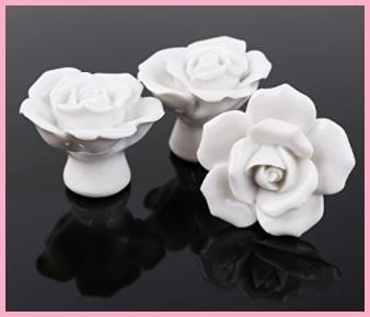 Pomello in ceramica bianca