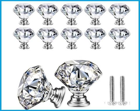 Pomello cristallo argento