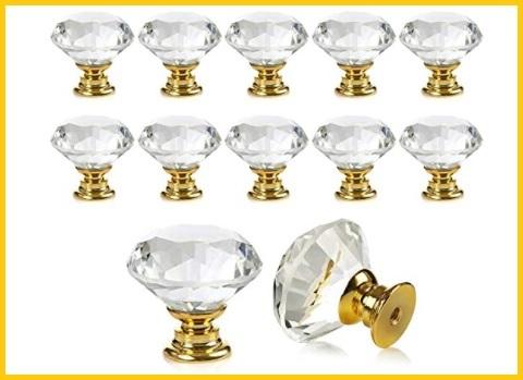 Pomelli in cristallo per mobili