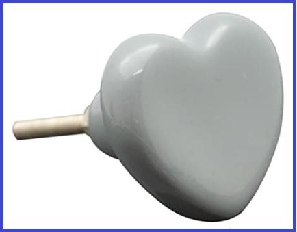 Pomello cuore grigio