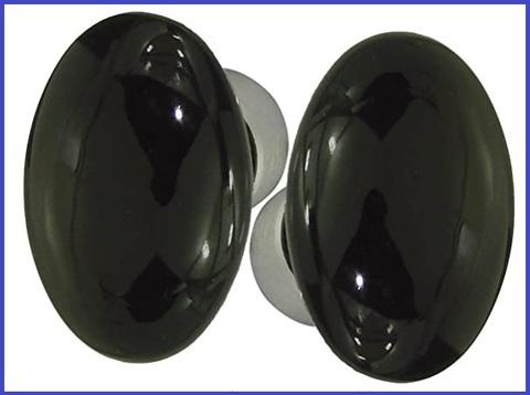 Pomello nero satinato