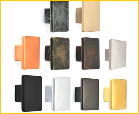 Pomelli quadrati per mobili