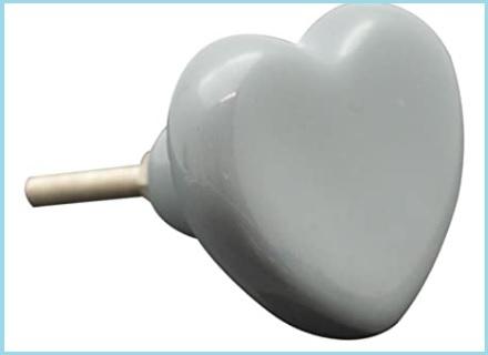 Pomelli a forma di cuore shabby
