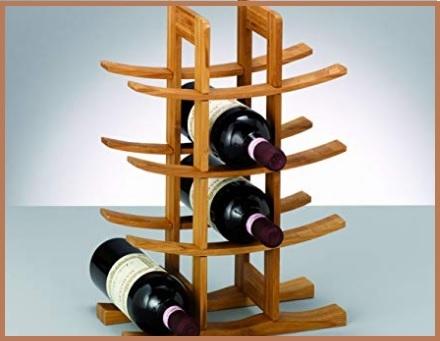 Porta bottiglie in bambù