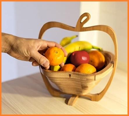 Portafrutta Legno Marrone