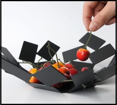 Portafrutta Nero Design