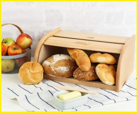 Porta pane in legno shabby