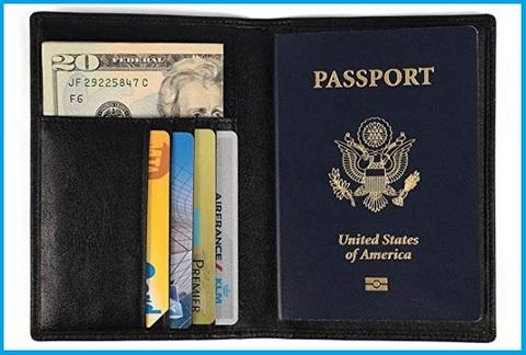 Portapassaporto da viaggio uomo