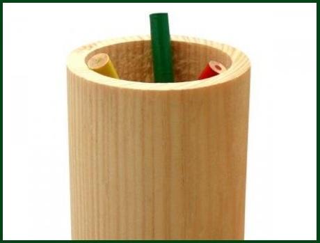 Portapenne in legno da decorare