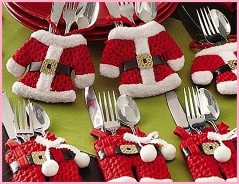 Porta Posate Natale Rosso