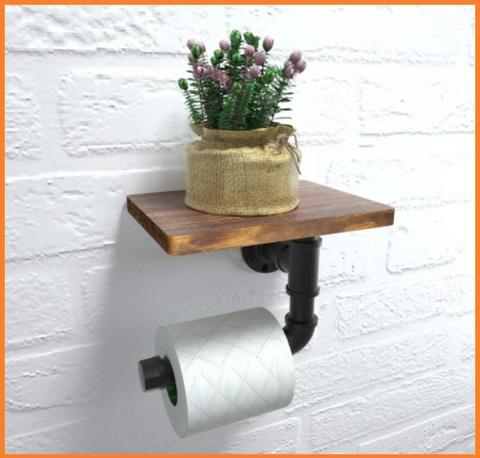 Porta rotolo da cucina legno vintage