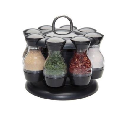 Portaspezie vasetti in vetro vuoti per cucina