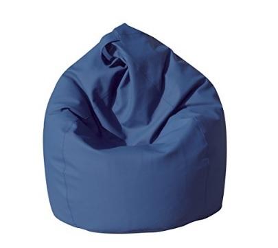 Poltrona sacco pouf in ecopelle dal colore blu