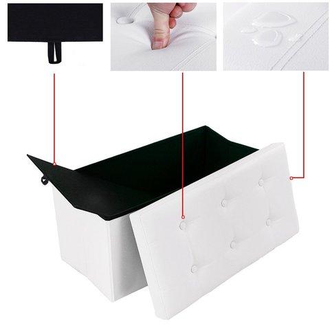 Pouf contenitore in ecopelle