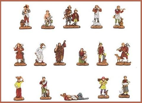 Presepe personaggi 3,5 cm