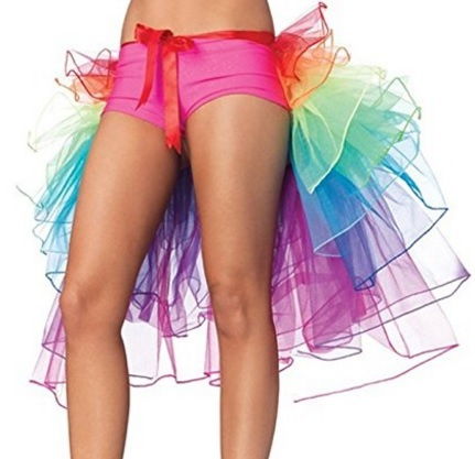 Gonna lingerie per la danza colore arcobaleno