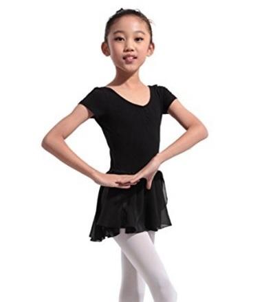 Chiffon body dal colore nero per danza